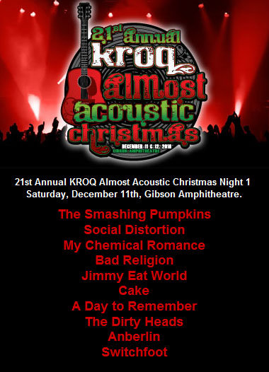 kroq almost acoustic christmas with bad religion news from the front the bad religion page since 1995 - Kroq Christmas