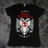 Two headed Eagle Girlie Tee (Black) - Front (480x640)