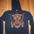 Zipped hoodie with eagle holding missiles - Front (XS) (771x1000)