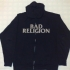 Zipped hoodie with Bad Religion and Skullcity design - Front (1004x941)