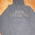 Hoodie with Bad Religion text logo (Gray) - Front (751x1000)