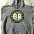 Hoodie with circular Bad Religion logo (Gray) - Front (383x507)