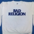 Sweater with Bad Religion text logo (White) - Front (1568x1000)