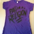 Bad Religion Girlie Tee (Purple) - Front (750x1000)