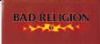 Bad Religion Crossbuster in Flames Sticker - Sticker (1200x526)