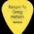 Guitar Pick - Return To Greg Hetson - No title (166x202)