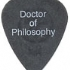 Guitar Pick - Doctor of Philosophy -  (93x113)