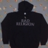 Zipped hoodie with Bad Religion and Skullcity design - AUS - Front (991x1000)