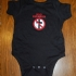 Bad Religion Crossbuster Baby Onesie (Black) - Front (530x641)