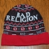 Bad Religion Beanie (Black / Red) - Brim rolled up (879x763)