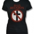 Distressed Crossbuster Girlie Girlie Tee (Black) - Front (325x424)