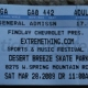 3/28/2009 - Las Vegas, NV - ticket