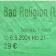 5/6/2004 - Helsinki - Ticket Stub by Tiketti