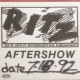 7/18/1992 - New York, NY - After show pass