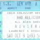 10/9/1993 - Chicago, IL - ticket